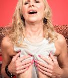 60 plus blonde MILF pornstar Bethany James baring naked ass and big boobs