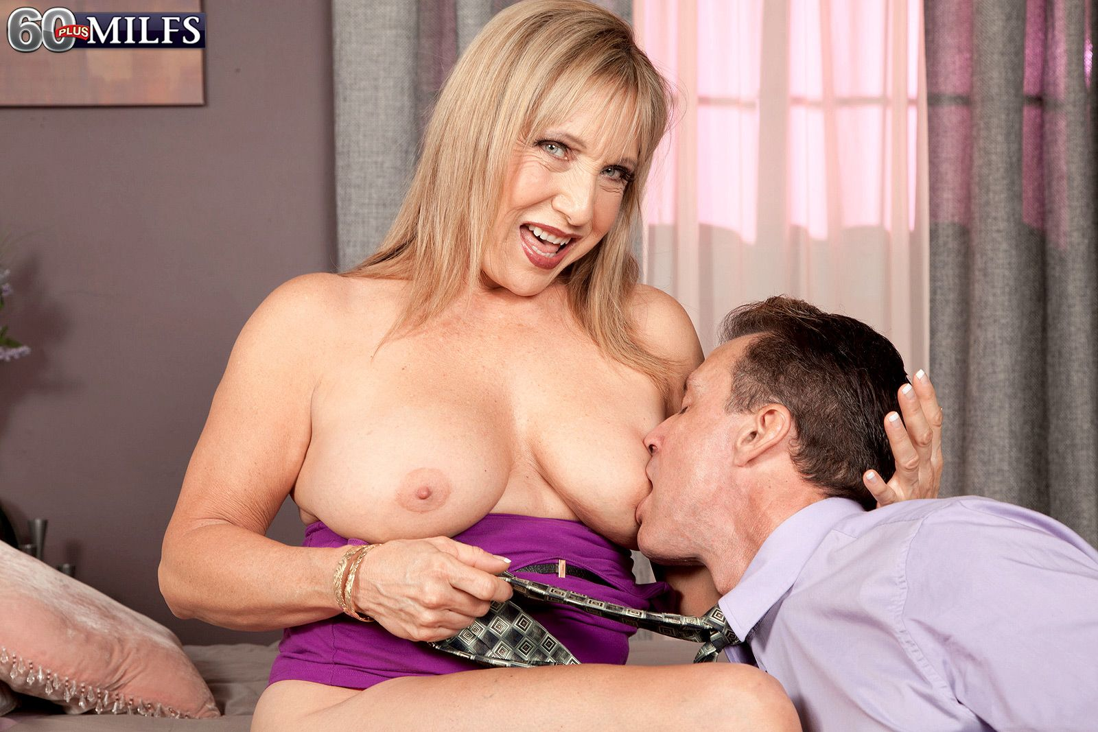 Hot MILFS like 60+ blonde babe Luna Azul and her big natural tits are the bomb