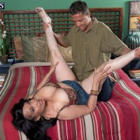 Buxom MILF over 60 Rochelle Sweet getting fucked by younger man