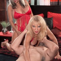 Latest 60plusmilf.com update features lesbian babes Sally D'Angelo and Cara Reid