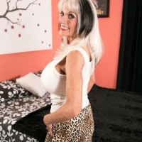Over Sixty MILF Sally D'Angelo displaying upskirt panties before giving xxx BLOW-JOB