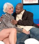 Over 60 amateur MILF blowing big black cock during hardcore interracial sex