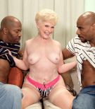 Kinky granny Jewel hooks up with 2 hefty black knobs for MMF 3 way wish