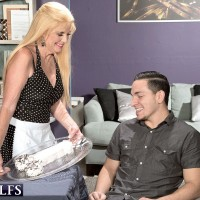Hot CFNM action with blonde over 60 granny Charlie