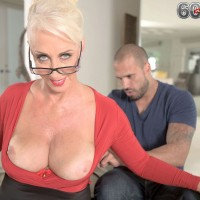 Long legged 60+ MILF Madison Milstar receiving massage and expose huge hooters