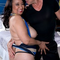 Big boobed older MILF Rochelle Sweet has some nice hanging tits