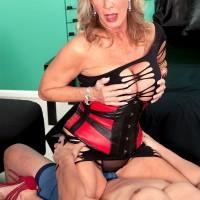 60plusmilfs.com presents stunning mature pornstar Phoenix Skye riding cock
