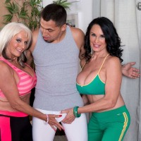 Older broads Sally D'Angelo and Rita Daniels Share A Cock