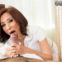Petite Chinese grandmother Kim Anh providing monster-sized dick hand job and ORAL JOB during rubdown
