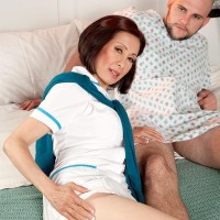 Uniformed Sixty plus Asian MILF nurse Kim Anh delivering immense rod hand job in hospital